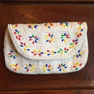 Handbags - Groovy beaded vintage retro clutch